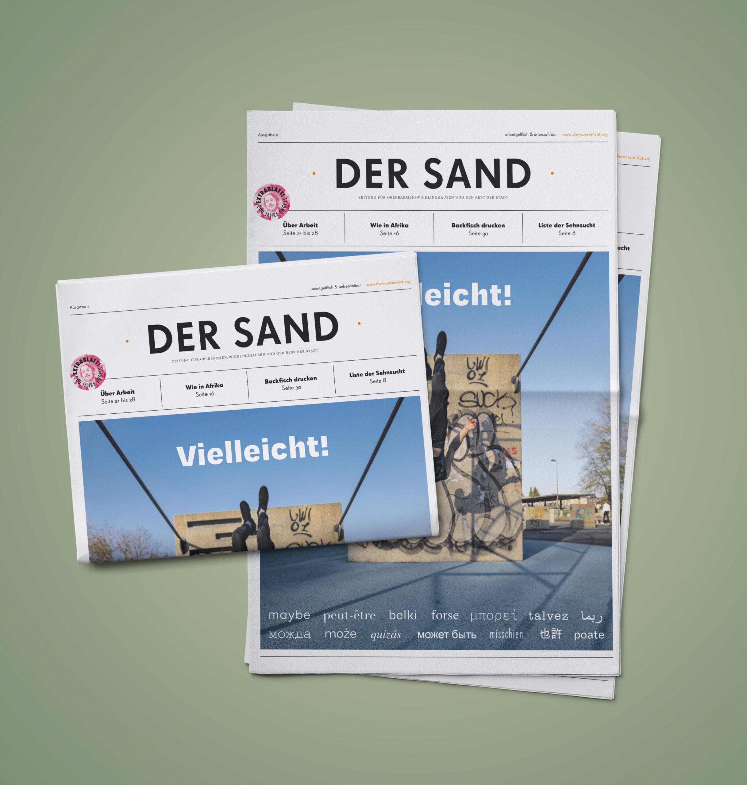 Zweite Ausgabe von DER SAND erschienen